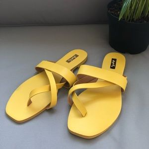 Yellow Qupid Sandals